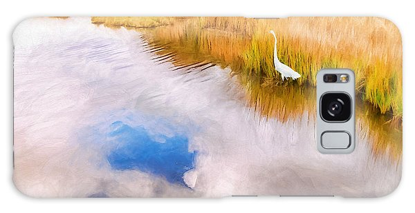 Cloud Reflection In Water Digital Art Galaxy Case