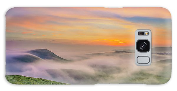Clouds And Fog At Sunrise Galaxy Case
