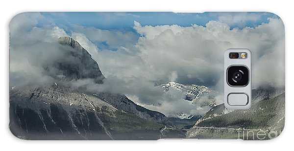 Clouds And Mist Over Canadian Rocky Mountain Peaks Galaxy Case by Gerda Grice