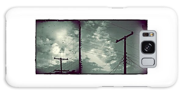 Clouds And Power Lines Galaxy Case