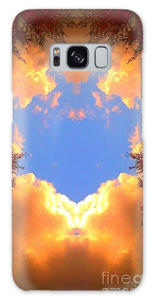 Clouds Of Gold Galaxy Case by Karen Newell