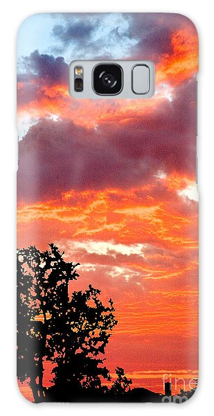 Galaxy Case featuring the photograph Clouds On Fire by Mae Wertz