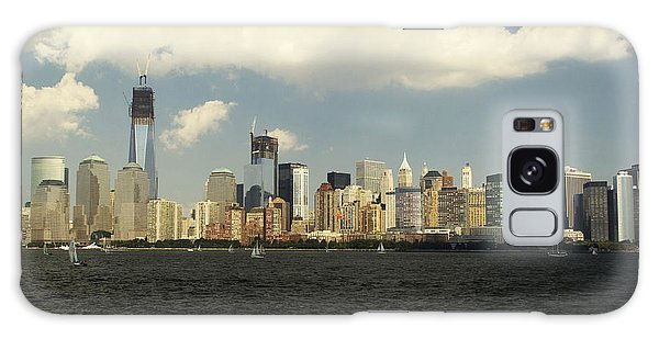 Clouds Over New York Skyline Galaxy Case