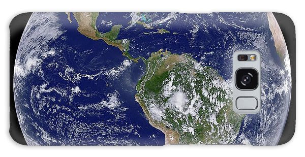Earth From Space Galaxy Case - Clouds Over The Americas by Nasa