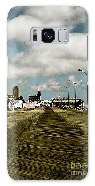 Clouds Over The Boardwalk Galaxy Case by Colleen Kammerer