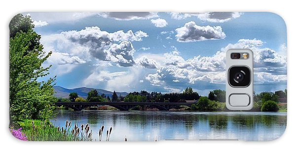 Clouds Over The River Galaxy Case