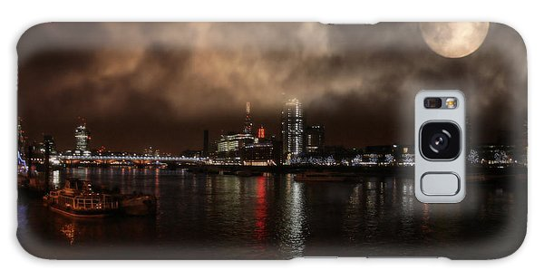 Clouds Over The River Thames Galaxy Case by Doc Braham