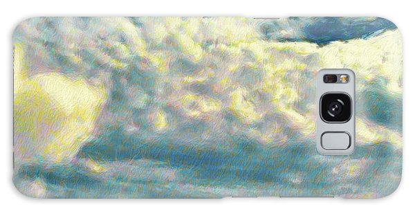 Clouds With Yellow Flecks - Square Galaxy Case by Lyn Voytershark