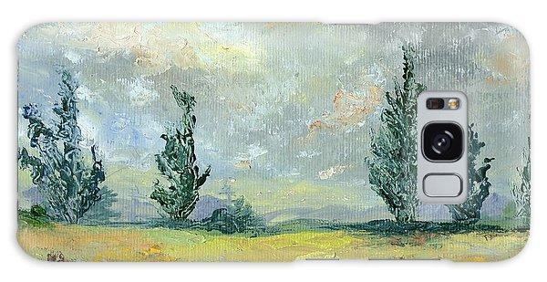 Cloudy Landscape Before The Rain Galaxy Case