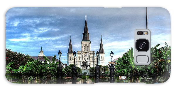 Cloudy Morning At  St. Louis Cathedral Galaxy Case