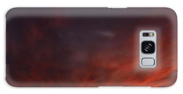 Cloudy Red Sunset Galaxy Case
