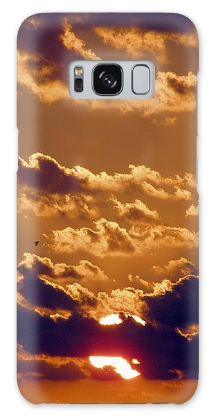 Key West Cloudy Sunset Galaxy Case