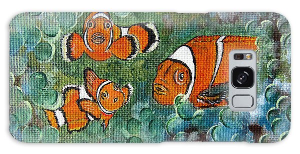 Clown Fish Art Original Tropical Painting Galaxy Case