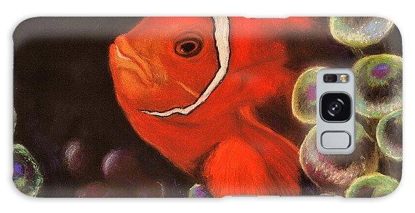 Clown Fish In Hiding  Pastel Galaxy Case