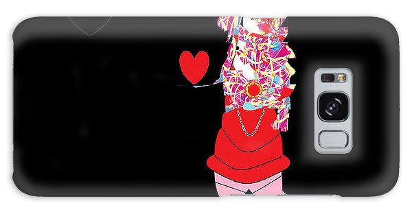 Clown Love Galaxy Case by Ann Calvo