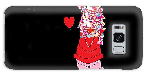 Clown Love Galaxy Case by Ann Calvo