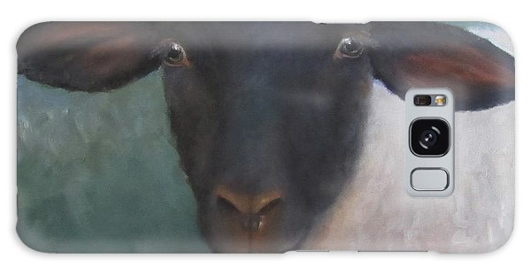 Clyde - A Suffolk Lamb Painting Galaxy Case