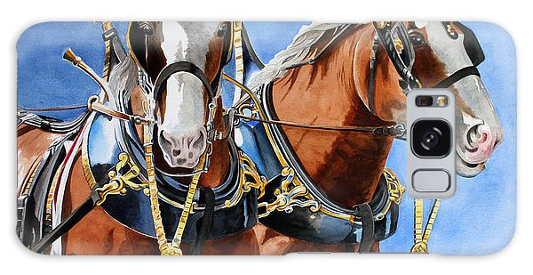 Clydesdale Duo Galaxy Case by Debbie Hart