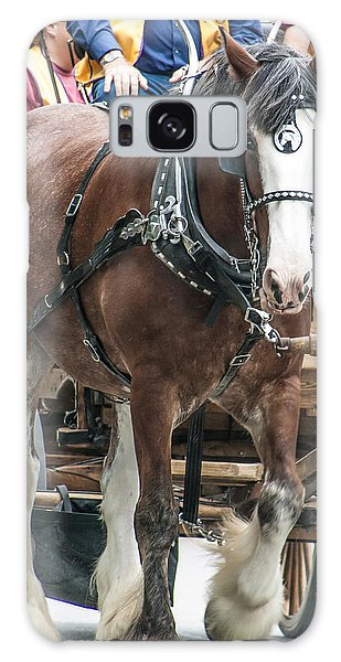 Clydesdale On Parade  Galaxy Case