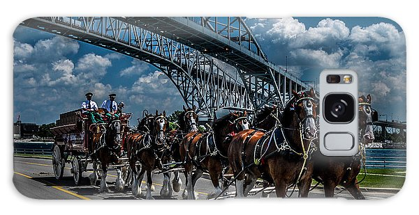 Clydesdales And Blue Water Bridges Galaxy Case
