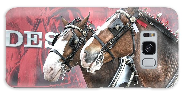 St Louis Mo Galaxy Case - Clydesdales by Jane Linders