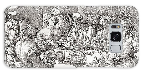 Behaviour Galaxy Case - Coarse Behaviour At The Dining Table During The Renaissance Period.  After A Spanish Copper by Bridgeman Images