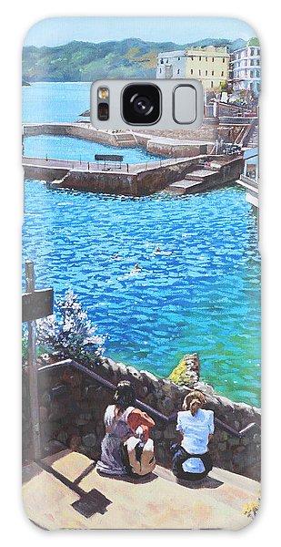 Coast Of Plymouth City Uk Galaxy Case by Martin Davey