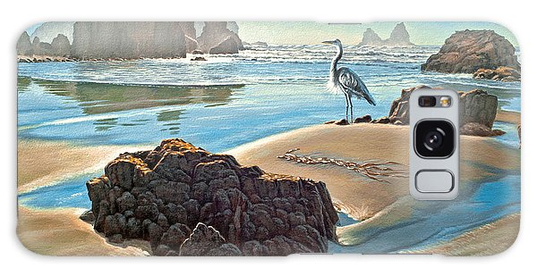 Herons Galaxy Case - Coast With Great Blue Heron by Paul Krapf