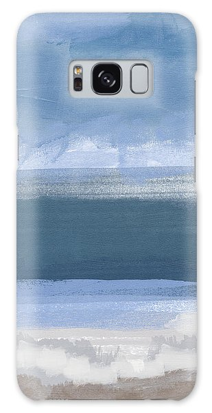 Calm Galaxy Case - Coastal- Abstract Landscape Painting by Linda Woods