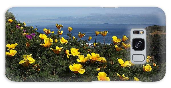 Coastal California Poppies Galaxy Case