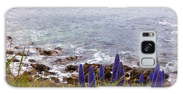 Coastal Cliff Flowers Galaxy Case