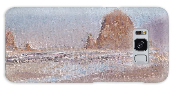 Coastal Escape  Cannon Beach Oregon And Haystack Rock  Galaxy Case by Karen Whitworth