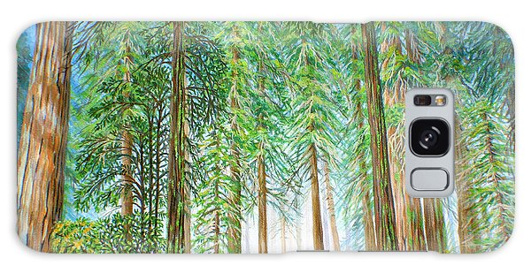 Coastal Redwoods Galaxy Case by Jane Girardot