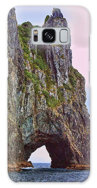 Coastal Rock Open Arch Galaxy Case by Linda Phelps