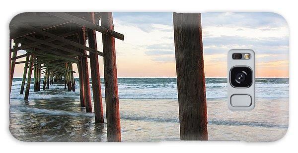 Coastal Sunset At Oceanana Fishing Pier Galaxy Case