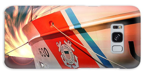 Galaxy Case featuring the photograph Coast Guard Uscg Alert Wmec-630 by Aaron Berg