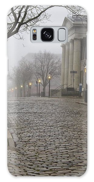 Cobblestone Street In Fog Galaxy Case
