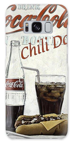 Coca-cola And Chili Dog Galaxy Case