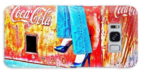 Coca-cola And Stiletto Heels Galaxy Case