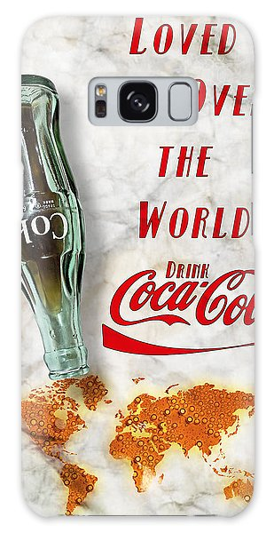 Galaxy Case featuring the photograph Coca Cola Loved All Over The World 2 by James Sage