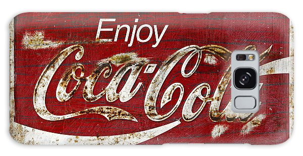 Coca Cola Red Grunge Sign Galaxy Case by John Stephens