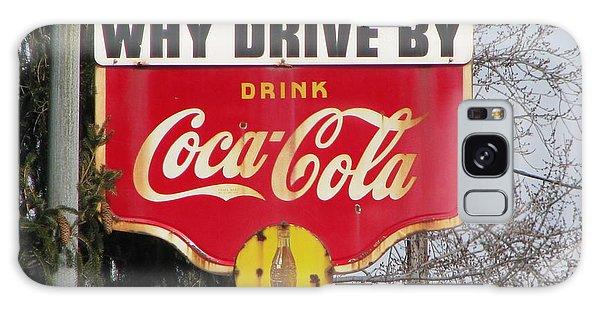 Coca-cola Sign Galaxy Case by Michael Krek