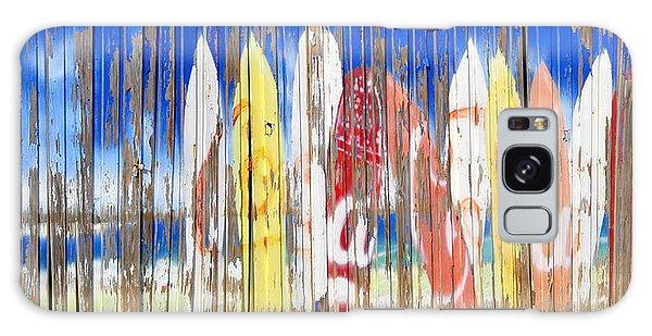 Board Walk Galaxy Case - Coca Cola Surfboard Sign by David Lee Thompson