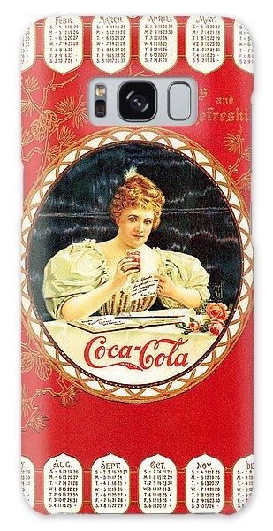 Coca - Cola Vintage Poster Calendar Galaxy Case