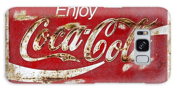 Coca Cola Vintage Rusty Sign Galaxy Case