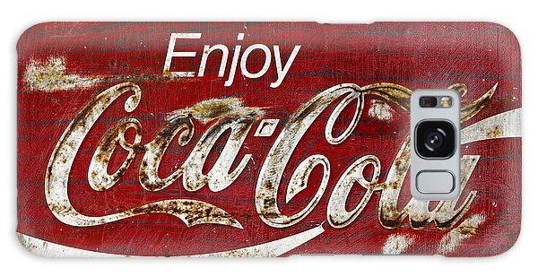 Coca Cola Wood Grunge Sign Galaxy Case