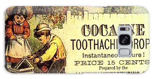 Cocaine Toothache Drops Advertisement Around 1900 Galaxy Case by Merton Allen
