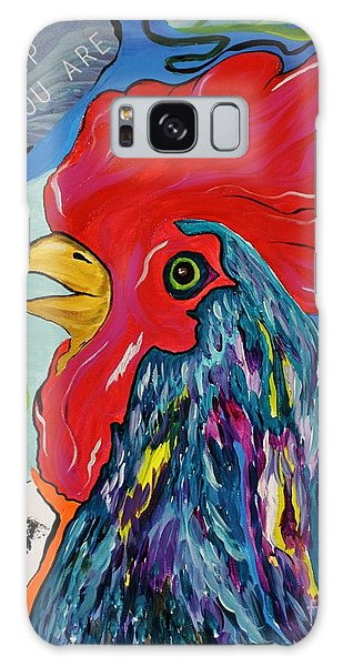 Cock-a-doodle-do Galaxy Case
