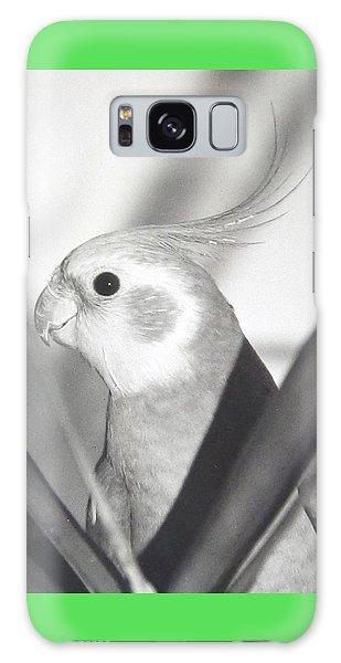 Cockatiel In Palm Galaxy Case by Belinda Lee