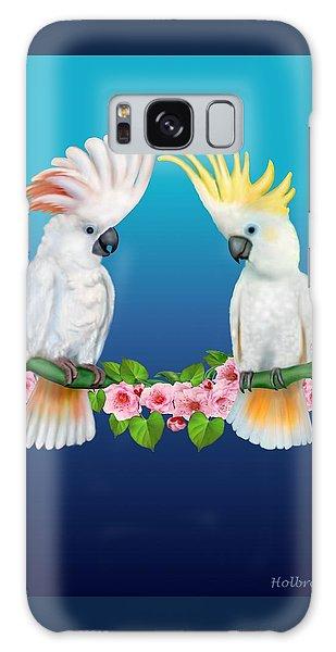 Cockatoo Courtship Galaxy Case by Glenn Holbrook